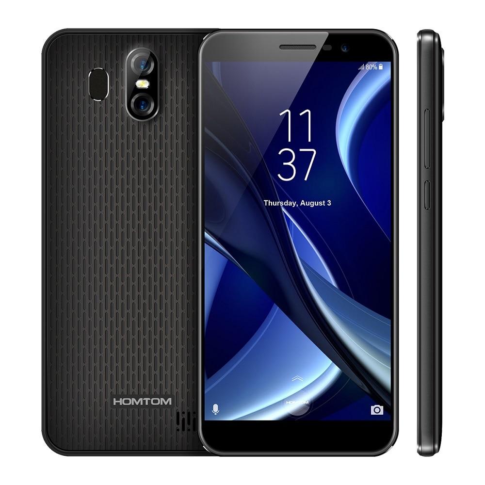 HOMTOM S16 5.5 inch Full Display 3G Smartphone Android 7.0 MTK6580 Quad Core 2GB 16GB Dual SIM Mobile Phone 13MP 2 Rear 3000mAh