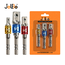 JelBo 3PCS/Set Hex Shank Drill Bit Extension  1/2 3/8 1/4 Drill Socket Adapter Sleeve Connecting Rod Hand Tools direct manufacturers 3 4 inch 19mm heavy duty sliding rod sleeve connecting rod bushing spanner yong linyi wholesale