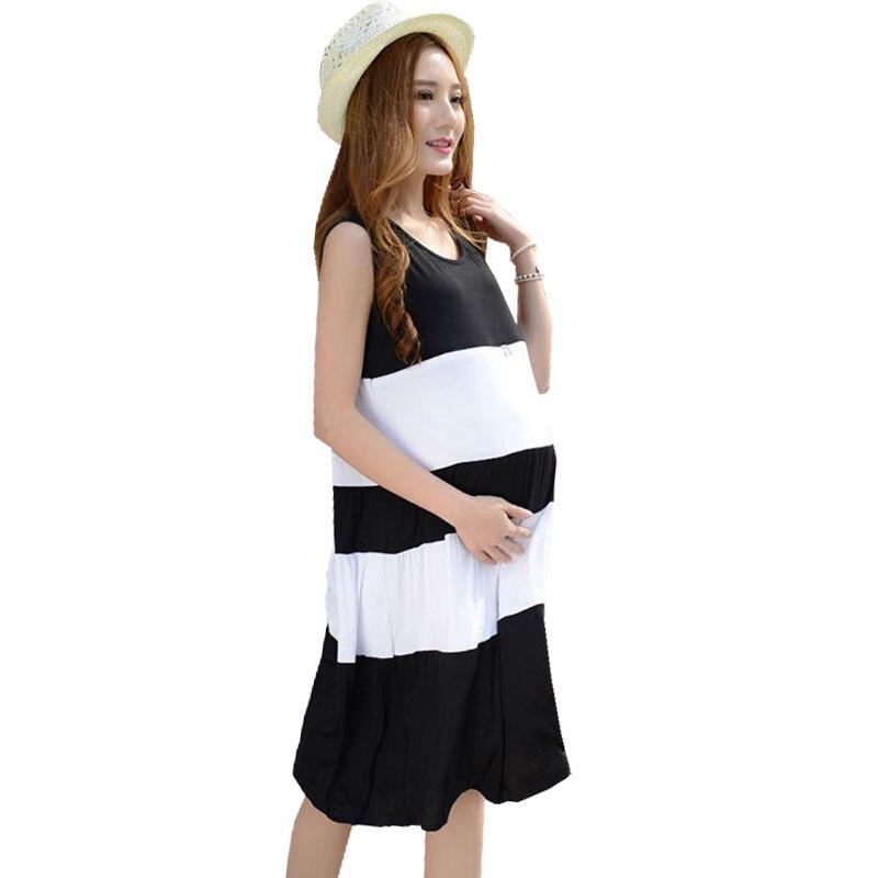 Modal Maternity Nursing Dresses Breastfeeding Clothes For Pregnant Women Zipper Sleeveless Feeding Dresses Pregnancy Clothing