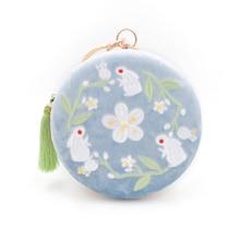 Angelatracy 2018 Embroidery Flower Fresh Floral Metal Frame Handmade Animal Lady Tassel Wrist Crossbody Shoulder Circular Bag