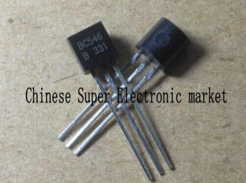 100Pcs BC546B BC546 TO-92 NPN 65V 0.1A Transistor