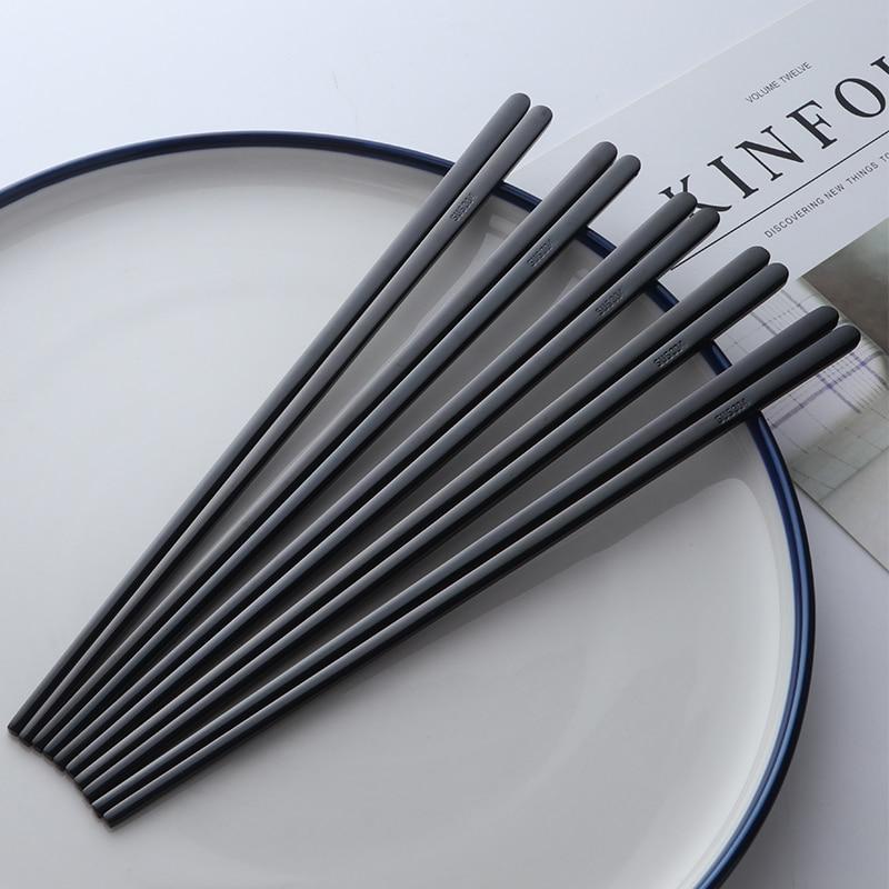 5pairs 304 nehrđajućeg čelika korejski štapići za jelo japanes - Kuhinja, blagovaonica i bar - Foto 5