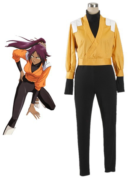 Free Shipping Bleach Yoruichi Shihoin The Secret Remote Squad Uniform Anime Cosplay Costumes