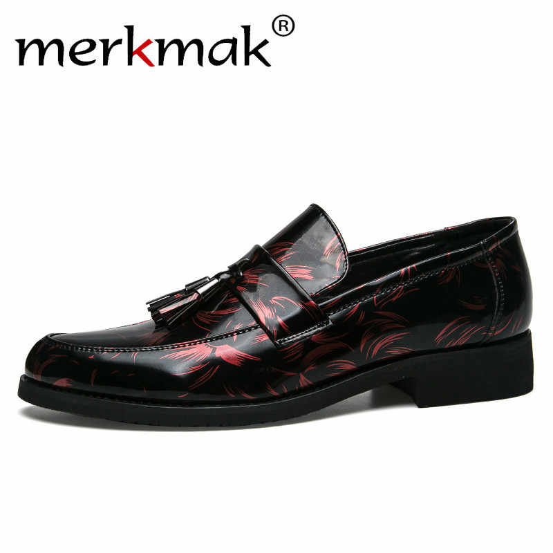 Merkmak Mannen Loafers Chic Elegante Merk Mannen Kleding Schoenen Italiaanse Dating Zwart Zilver Blauw Mannelijke Kwastje Loafers Casual Schoenen