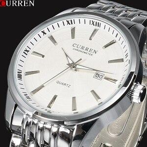 Image 2 - Montres hommes haut de gamme de luxe Curren hommes en acier inoxydable analogique Date Quartz montre décontractée montres bracelets Relogio Masculino