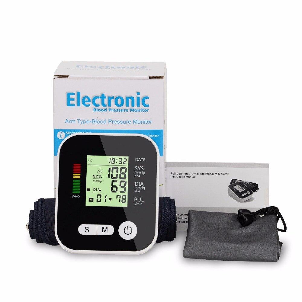Automatic Digital Upper Arm USB Charge Blood Pressure Monitor Tonometer Digital Sphygmomanometer LCD Measure Presure Household
