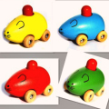 High quality wooden Little Mouse Car saftety cute baby toy kids toy early education toy Parent child game Christmas gift