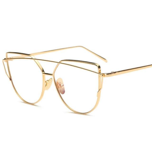 1951881b53 placeholder New Fashion Cat Eye Glasses For Women Glasses Men Optical Lens Glasses  Metal Frame Sunglasses Female