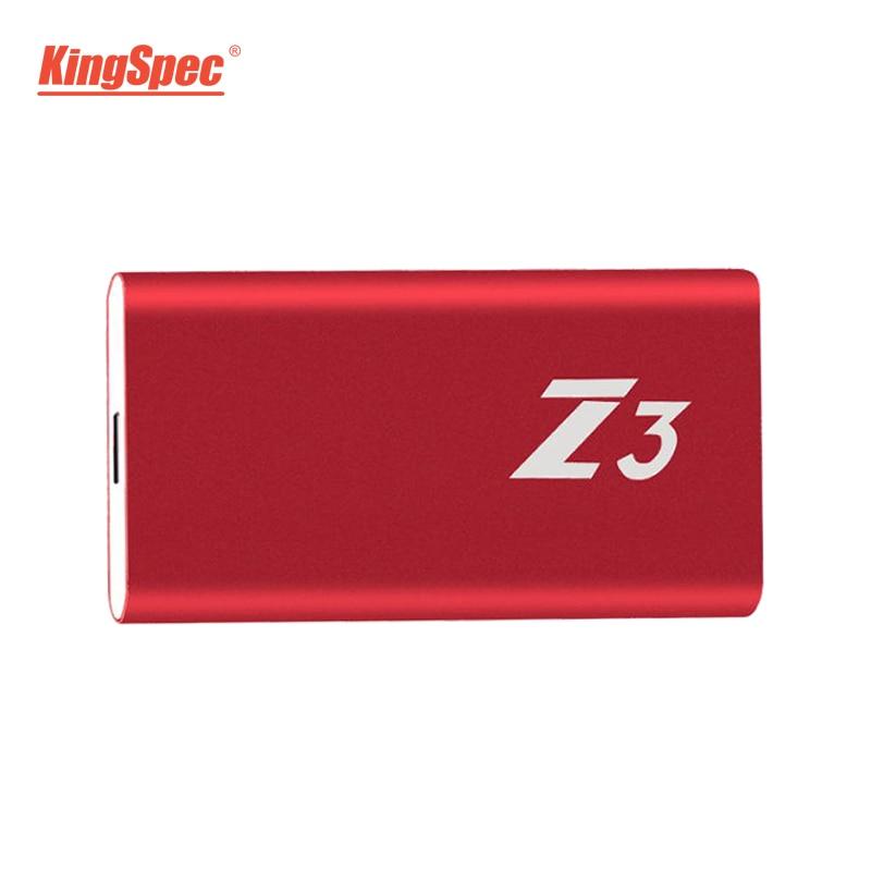 Z3-512 KingSpec SSD Esterno USB 3.1 Hard Drive 512 gb Tipo-c Solid State Disk USB 3.0 di Trasporto Libero