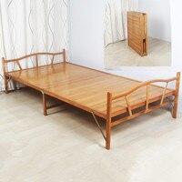 1,0x1,9 см современный складной кровать Крытый Бамбуковая мебель одной складной кроватью для гостей дома Спальня мебель платформы кровать рас
