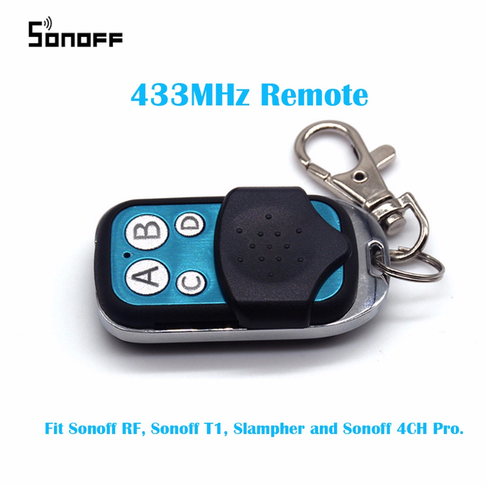 433MHz 4 Channel Sonoff RF Controller ABCD 4 Buttons Sonoff RF Slampher 4CH Pro Electric Remote Key Fob Control