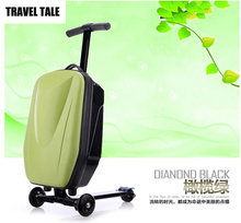 TRAVEL TALE Teenager scooter suitcase on wheels skateboard traveling luggage bags with wheels