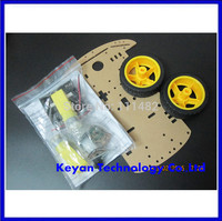 Free Shipping New Motor Smart Robot Car Chassis Kit Speed Encoder Battery Box 2WD For Arduino