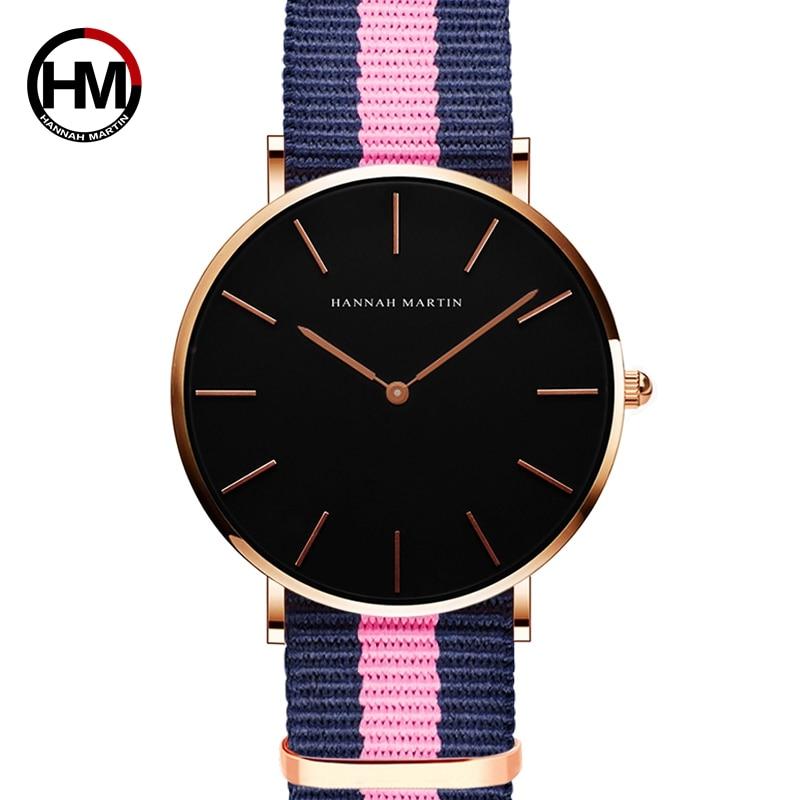HANNH MARTIN Ultra Slim Mujeres Reloj de pulsera de cuarzo Reloj de - Relojes para mujeres