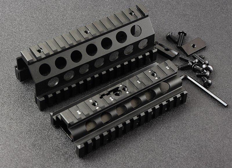 M249 Inférieur et Supérieur Monture Protège-main 6 pièces RIS Système de Rails de Rail Quadruple Support CNC M8189 - 2