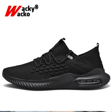 цена на Wacky Wacko Casual Shoes Sport Running Shoes Breathable Leisure Shoes Air Cushion Sport Shoes Comfortable Light Footwear Male
