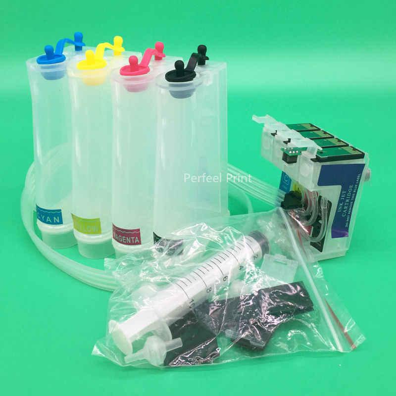 4 Warna T1351 T1332 T1334-Sistem Tinta CISS Kosong Dengan ARC Chip untuk Epson Stylus T25 TX125 TX133 TX135 BK C M Y
