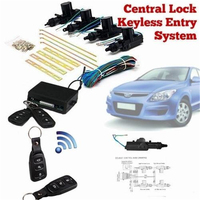 MVpower 2pcs Wireless Remote Control Switch Car Door Central Lock Automatic Locking Alarm Security Keyless Entry