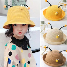 Little bee boys girls Straw Hats Summer Sun antenna Hats for child kids Beach Hats antenna 2019 kids sunscreen cap 926283 601 926283 001 dag94cmb6d0 uma w a9 9420 cpu for hp laptop 15 cd series 15z cd000 pc motherboard mainboard tested