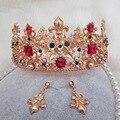 Bridal jóias Barroco retro coroa da princesa high-end acessórios cocar jóia pérola do vintage de luxo vestido de noiva quente 225