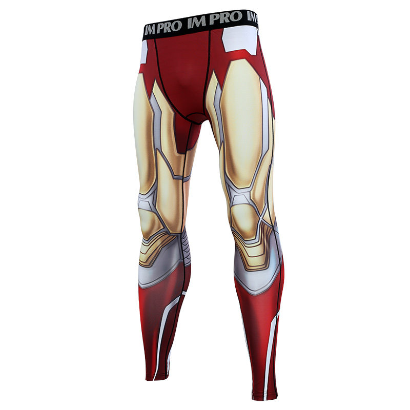 Trousers Male Leggings Compression-Tights-Pants Printed-Pattern Avengers Skinny Man 3D