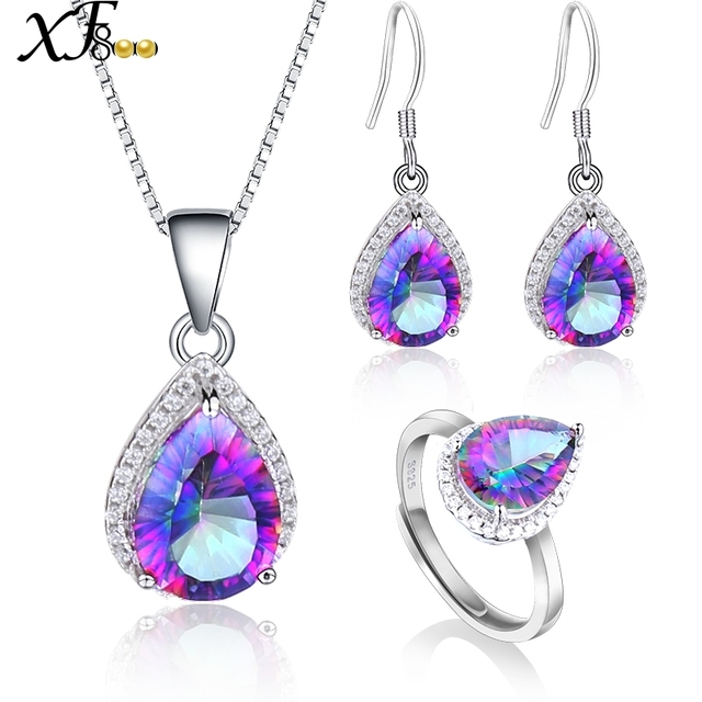 snobs sterling earrings tear genuine mystic sale accessory topaz silver drop product