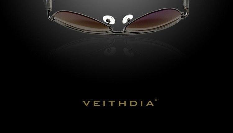 VEITHDIA, поляризационные Винтажные Солнцезащитные очки для мужчин и женщин, фирменный дизайн, Сплав Al-Mg, солнцезащитные очки для пилотов, gafas oculos de sol masculino VT2605