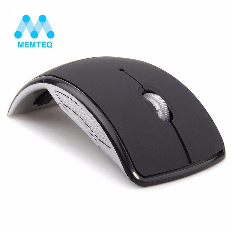 MEMTEQ עכבר אלחוטי 2.4Ghz מחשב עכבר מחשב נייד מתקפל נסיעות עכבר עכבר מיני עכבר USB מקלט למחשב נייד PC Desktop