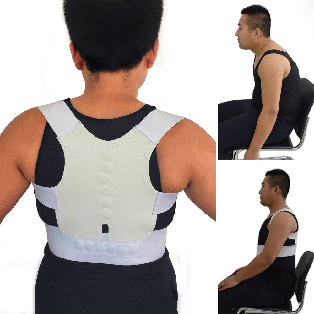Unisex salud XXL tamaño postura Corrector turmalina cinturón Corrector postura para la espalda ajustable magnético hombro trasero