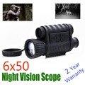 WG650 ночной охотничий Цифровой оптический Инфракрасный 6X50 Монокуляр ночного видения 200 м Диапазон ночного видения телескоп изображение и ви...