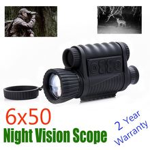 Ночь WG650 Охота цифровой Оптический 6Х50 инфракрасного ночного видения Монокуляр 200m Диапазон ночного видения телескоп фото и видео