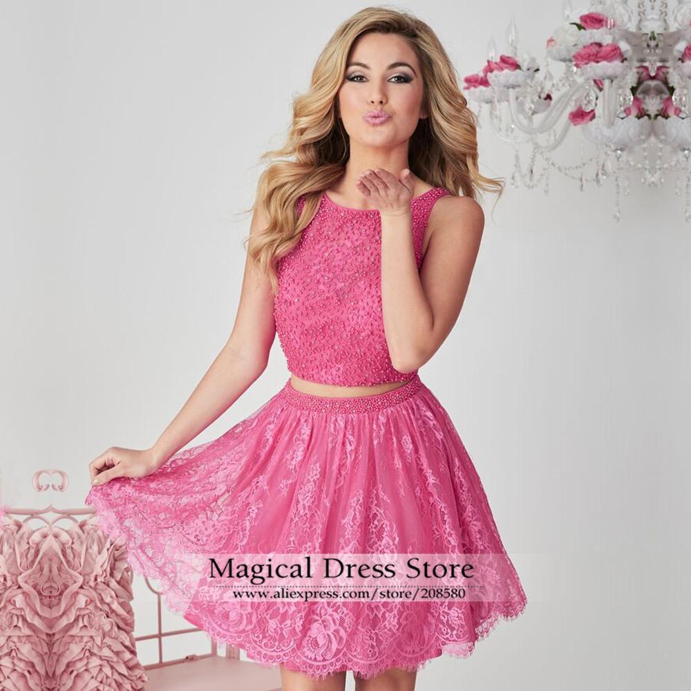 Vestidos De Cóctel De Color Rosa Y Verde de alta calidad ...
