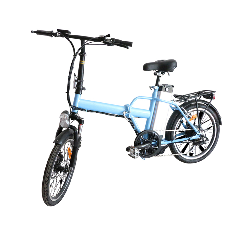 JS 20″ foldable electric bicycle 36V 10ah lithium battery 250W brushless motor LCD display speed 40km/h electric bicycle e bike