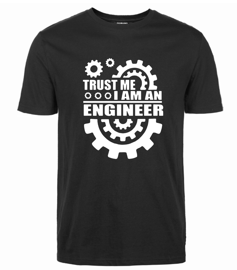Verão 2018 Algodão Homens Camisetas confia em mim, eu SOU UM ENGENHEIRO T Camisas O Pescoço tops Tees engraçado roupas streetwear da marca camisetas