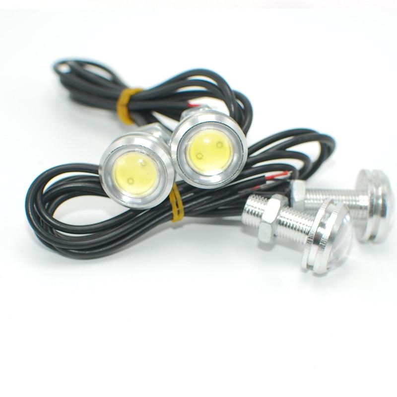 MON-SU 10pcs DC12V 23mm Eagle Eye DRL Car LED Daytime Running Light Work Light Source Waterproof Fog Parking Light Silver