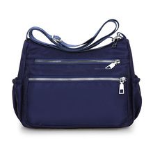 Fashion Women Messenger Bags Hobos Shoulder Zipper Bag Lightweight Waterproof Nylon Oxford Travel Crossbody Purses Handbags
