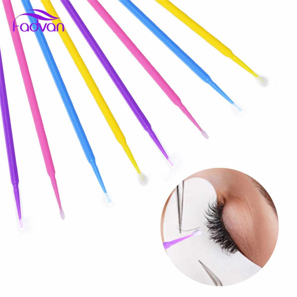 9ca9707f28b ... 200pcs/set Eyelash Extension Glue Cleaning Brushes Makeup Tools Micro Swab  Lash Clean Applicators Mascara ...