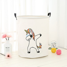Basket-Stand Organizer Dirty-Clothes Laundry-Basket Picnic Storage-Box Bin-Handle Cotton