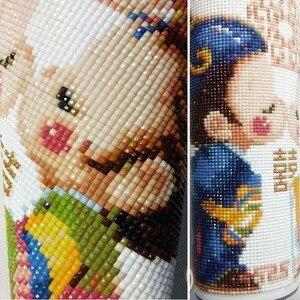 Image 3 - 5 sztuk/zestaw kwiaty motyle dekoracji wnętrz DIY diament malarstwo Cross Stitch dekoracje ścienne diament haft Multigang rysunek