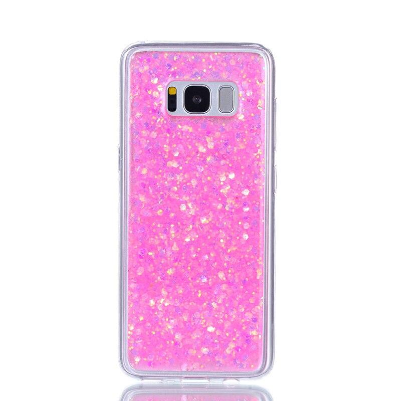 Glitter Bling Cover para Samsung galaxy s8 funda Cute Candy Colorful - Accesorios y repuestos para celulares - foto 4