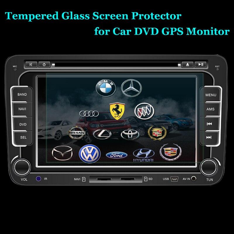 imágenes para Prima Real de Cristal Templado de Película De Vidrio de 0.5mm 6 ~ 8 pulgadas Protector de Pantalla para PDA GPS Del Coche MP4 de Vídeo DVD de Pantalla de Cristal Protector