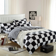 icon like fashion bed linen duvet cover bed sheet pillow cases 4pcs queen size bedding set