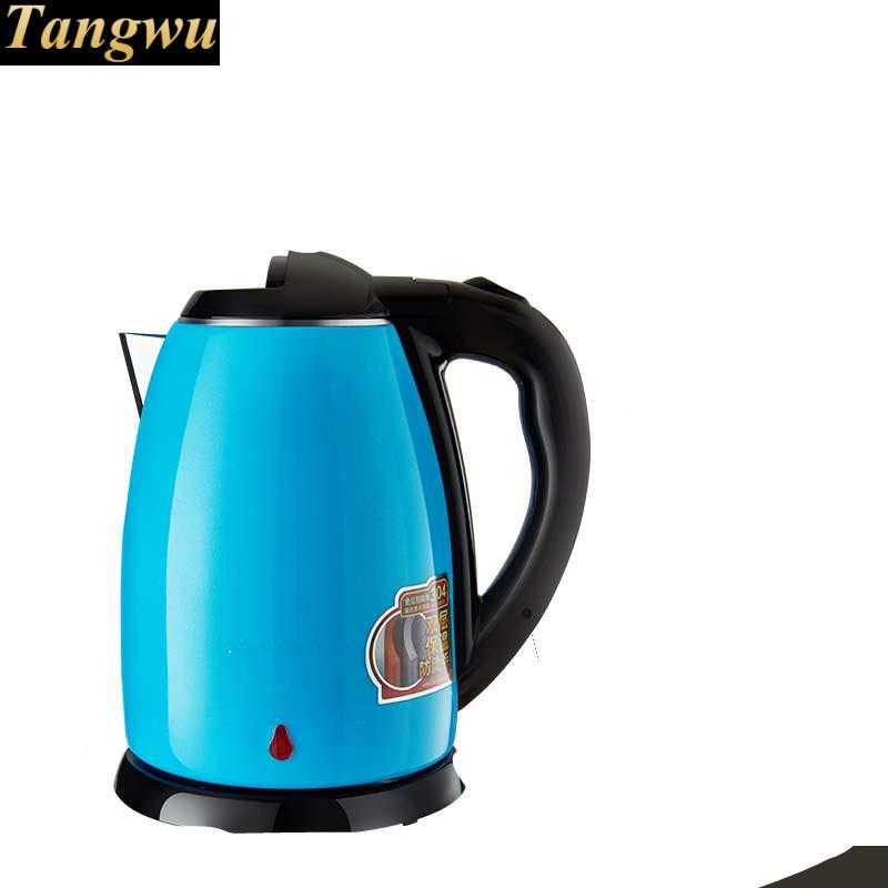 Full steel electric kettle 304 stainless kettles home double-layer perm Safety Auto-Off Function цена и фото