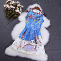 Женщины Европейский Стиль Весна Осень Старинные Печати Dress Женский Жаккардовые Замок Печати Платья Vestidos