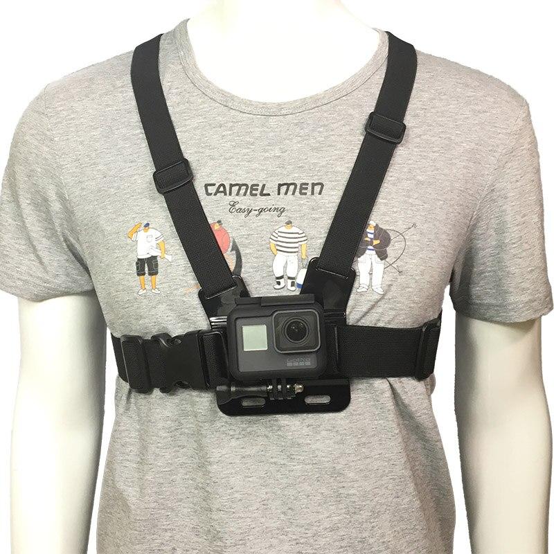 Adjustable Chest Body Harness Belt Strap Mount For Gopro HD Hero 6 5 4 3+ 3 2 Session Action sj4000 EKEN H9 Camera  AccessoriesAdjustable Chest Body Harness Belt Strap Mount For Gopro HD Hero 6 5 4 3+ 3 2 Session Action sj4000 EKEN H9 Camera  Accessories