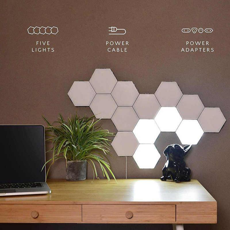 Kuantum Baru Lampu LED Modular Sentuh Sensitif Lampu Hexagonal Lampu Malam Lampu Magnetik Kreatif Dekorasi Dinding Lampara
