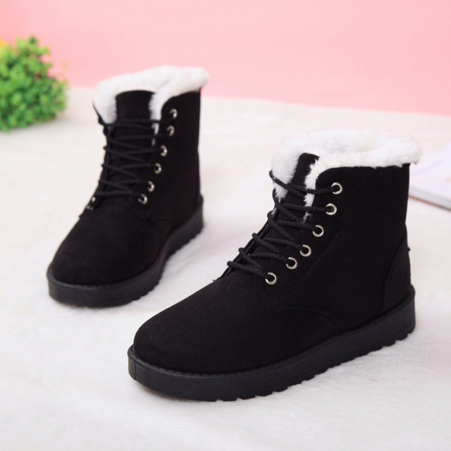 89ad77fd7 US $7.09 29% OFF|Women Boots Winter Super Warm Snow Boots Women Suede Ankle  Boots For Female Winter Shoes Botas Mujer Plush Booties Shoes Woman-in ...