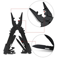 Multifunctional Tool Pliers Outdoor Survival Camping Fishing Huntsman Knives EDC Portable Folding Pliers JY HM 406