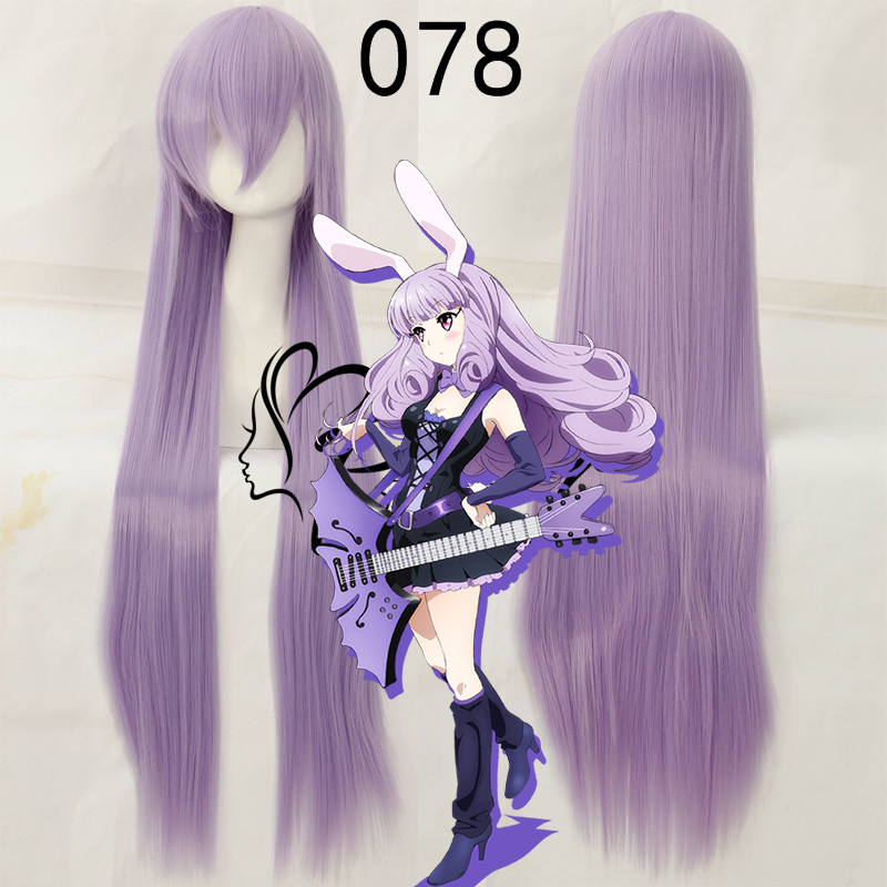 Careful Anime Show By Rock !! Cosplay Wig Plasmagica Chuchu 100cm Long Light Purple Violet Synthetic Hair For Adult