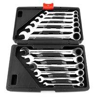 12 pcs Ratchet Wrench Mechanic Tool Car Vehicle Garage Spanner 8 19mm Tool Set